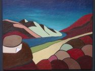 09 The red mountain - 100 x 80